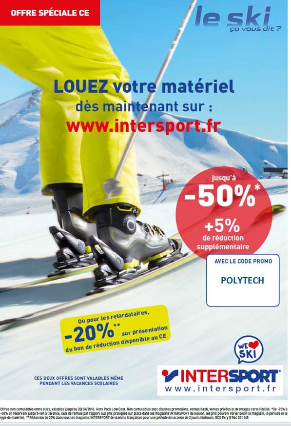 Offre valable dans tous les magasins INTERSPORT de stations françaises pour  une période de location de 2 jours minimum 64f1f1eafe8